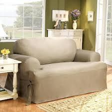 surefit loveseat slipcovers cotton duck t cushion sofa slipcover sure fit stretch leather 2 piece