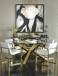 ... Full size of Refined Dining The Sophisticated Bold And Gold Decor  Features The Costello Dining Table