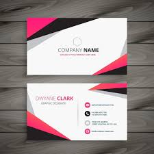 Abstract Design Company Abstract Business Card Vector Design Illustration Visiting