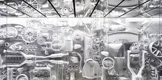 car parts wall art intersect by lexus tokyo echochamber parts of a wall