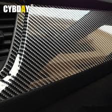 10x152cm 5d high glossy carbon fiber vinyl film car styling wrap motorcycle car styling accessories interior carbon fiber tape furniture