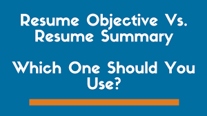 Resume Summary Vs. Objective Statement  Exactly Which One To Use  ZipJob