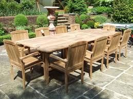 teak dining tables uk. 10 seater teak set - barbuda double extending view the full image -12 garden dining tables uk e