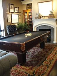 Interior:Simple Game Room With Big Billiard Table In Small Space Square  Pool Table As