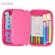 Amazon.com : SOOCUTE School Girls Cute Hardtop Pencil Case Big Pencil Box  With Compartment For Kids (White Stationery) : Office Products
