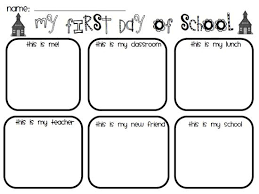Small Picture First Day Of School Worksheets Sioncoltdcom