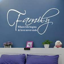 family love never ends e vinyl wall decal