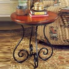 wrought iron and wood furniture. Wrought Iron Coffee Table Small In Front Of And Wood Furniture A