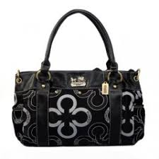 Coach Waverly Big C Logo Large Black Satchels EJR