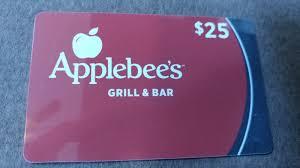 25 applebee s or gift card restaurant 0 99 pic