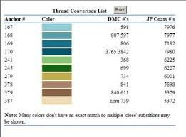 Soie D Alger To Dmc Conversion Chart Thread Conversion Anchor Dmc Soie Dalger Cross Stitch