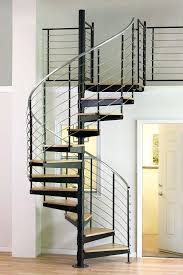 metal spiral stairs diameter multi line stainless steel kit with oak treads and aluminum handrail spiral