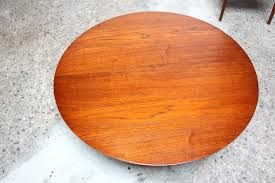 birch wood coffee table mid century modern teak and birch round coffee table by birch lane