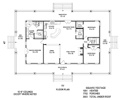Country Style House Plan  4 Beds 200 Baths 1472 SqFt Plan 172017Country Floor Plans