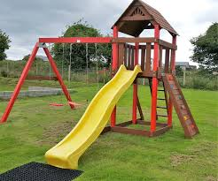 kids tree houses with slides. Swings.slide.play House ,access Ladder,rock Wall, Babay Seat Kids Tree Houses With Slides N