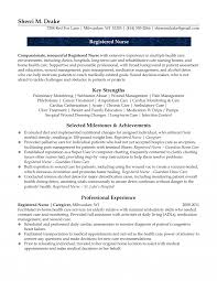 Resume For Nurses Detox Nurse Resume Example Nursing Format Best Of Sample For 66