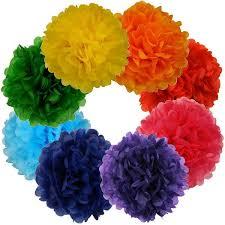 Tissue Paper Pom Poms Flower Balls Tissue Paper Pom Poms Flowers Balls 12inch 8 Assorted Color