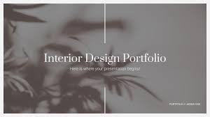 interior design portfolio google slides