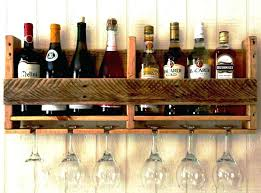 under cabinet glass rack wine wood holder bar counter kitchen me