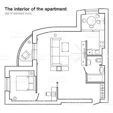 Delightful Bedroom:Architectural Plan Of House In Top View Floor With Bedroom Blueprint  Maker Blueprints Bathroom
