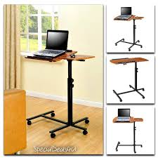 portable laptop table desk cart adjule rolling trolley notebook pc stand new altrafurniture moderncontemporaryaccent