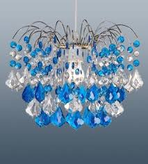 modern acrylic crystal chandelier ceiling light with azure droplets large