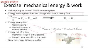 energy conservation example mechanical energy gasoline pump