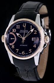 certified pre owned mens watches pre owned swiss watches pre owned accutron calibrator black and rose