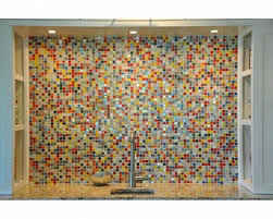 backsplash bubble glass tile