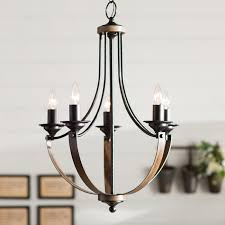 stylish candle style chandelier laurel foundry modern farmhouse kenna 5 light mini candle style