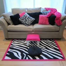 Pink And Zebra Bedroom Pink And Black Zebra Rug Rugs Ideas