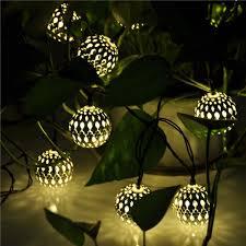 outdoor lighting balls. 10 balls moroccan solar string lanterns led fairy lights garden christmastree indoor outdoor lighting