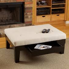 fabric storage ottoman coffee table modern footstools and ottomans