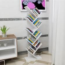 office bookshelf. Tree Shelves Bookshelf Office Newspaper Shelf Decorative Frame Multi-layers Storage Bookshelves