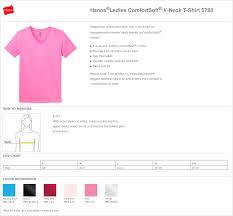 Hanes Women S T Shirt Size Chart Ladies T Shirt Hanes V Neck Tagless True To Size Apparel