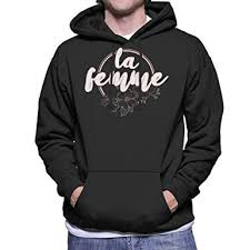 Coto7 French Slogan La Femme Mens Hooded Sweatshirt At
