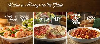 value is always on the table at olive garden learn more