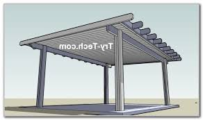 Diy Free Standing Patio Cover Plans Home Furniture Ideas