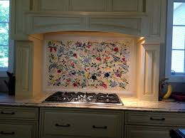 mosaic mural kitchen backsplash custom hand cut glass tile mosaic in a fl pattern
