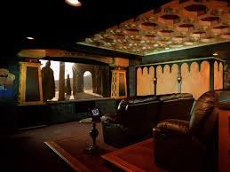 themed family rooms interior home theater: for arts sake themed home theaters  lord of the rings home theaterjpgrendhgtvcom