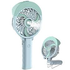 Buy HandFan Portable Misting Fan, 55ml Large Water Tank, Rechargeable Handheld Personal Mister Fan, Battery Operated Water Spray Mist Fan, 180Foldable, for Travel, Camping, Outdoors, Makeup(Green) Online in India. B06Y4PCLWY