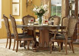 Old World Dining Room Furniture Art Old World 7 Pc Double Pedestal Dining Set In Cherry By