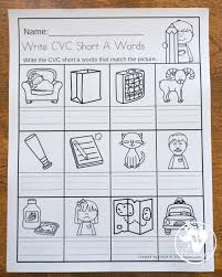 This is just some quick little cvc review worksheets for your kiddos to use! Cvc Word Family Write The Words No Prep Worksheet 3 Dinosaurs