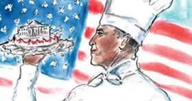 <b>Karl Lagerfeld</b> Creates A Sketch Of Barack Obama