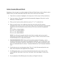 Microsoft Word Outline Template Outline Template Microsoft Word