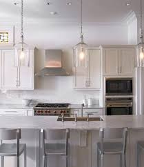 top 53 class clear glass pendant lights for kitchen island stunning with additional white flush mount