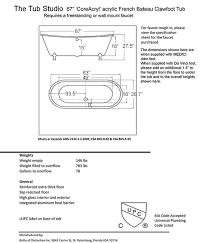 claw foot tub dimensions beautiful ideas clawfoot drain standard length bathtub