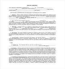 Sublease Agreement Samples 10 Sublease Agreement Templates Word Pdf Pages Free Premium
