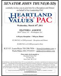 political fundraiser invite thune fundraiser clue to w h decision politico