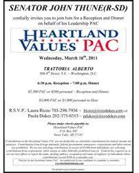 political fundraiser invite thune fundraiser clue to w h decision politico